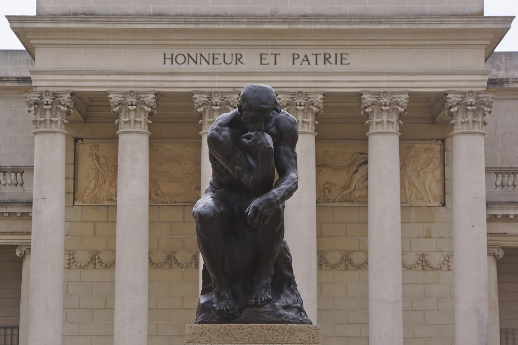 Entrance with Rodin's Thinker