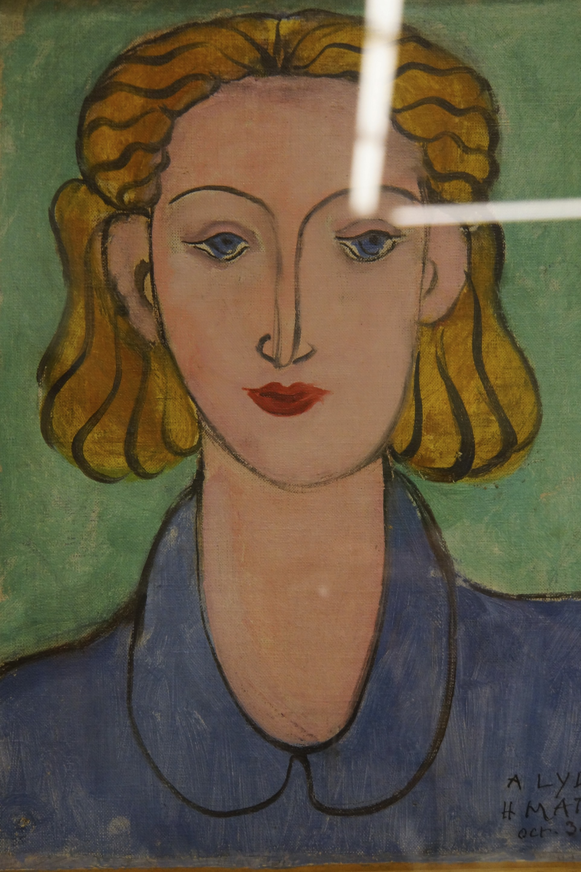 Matisse - Young Woman in Blue Blouse